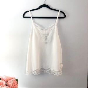 White lace cami